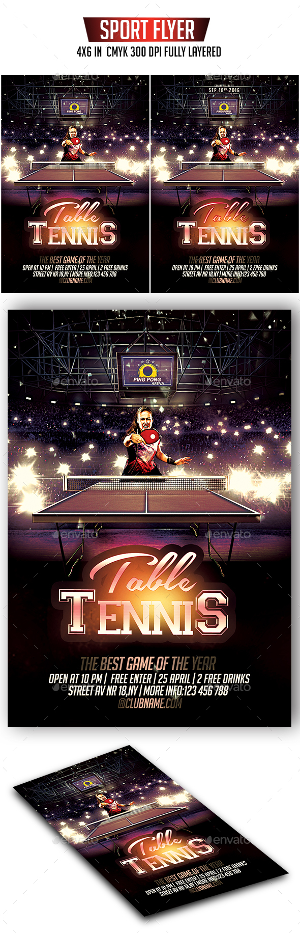 Table Tennis Flyer - Sports Events