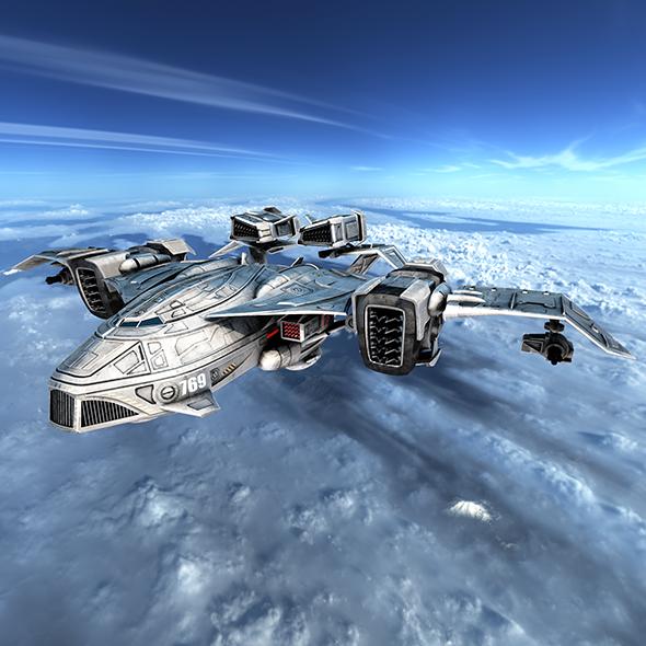 Sci-fy Dropship - 3DOcean Item for Sale