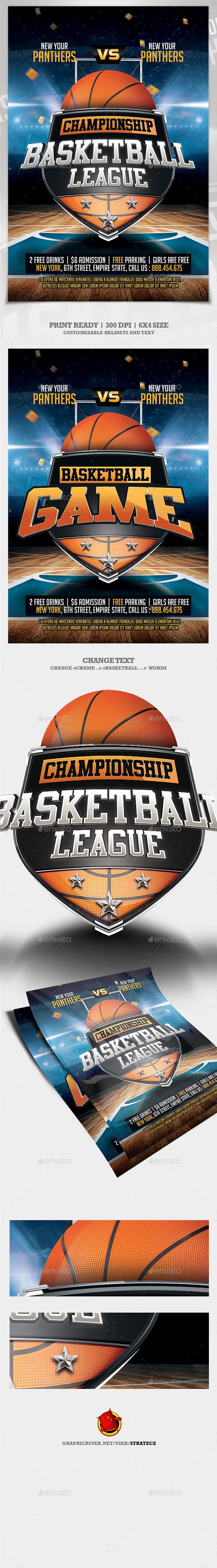 Basketball League Flyer - Print Templates