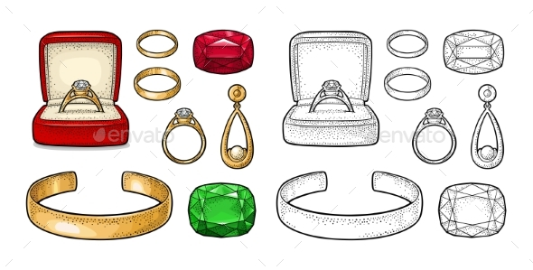 Set of Jewelry - Man-made Objects Objects
