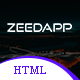 zeedapp - App Landing HTML Template - ThemeForest Item for Sale