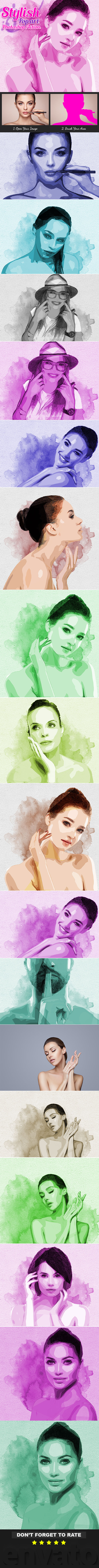 Stylish Pop Art Photoshop Action - Photo Effects Actions