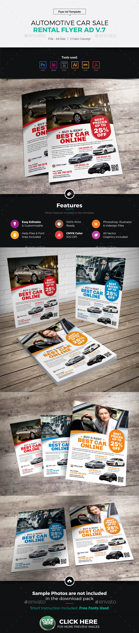 Automotive Car Sale Rental Flyer Ad v7 - Corporate Flyers