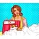Pop Art Woman Dressmaker Seamstress or Sewer