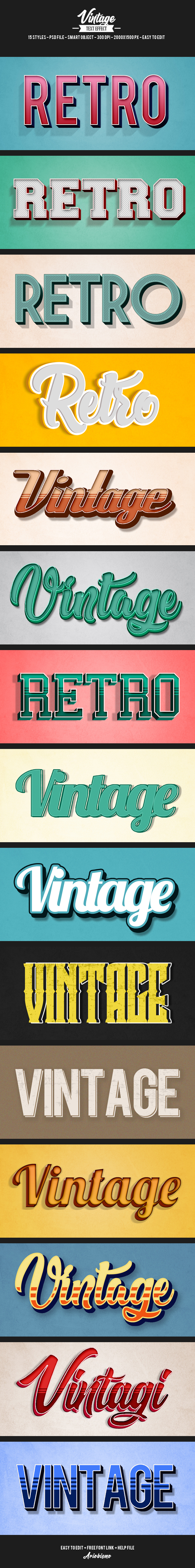 15 Retro Vintage Text Effects - Text Effects Actions
