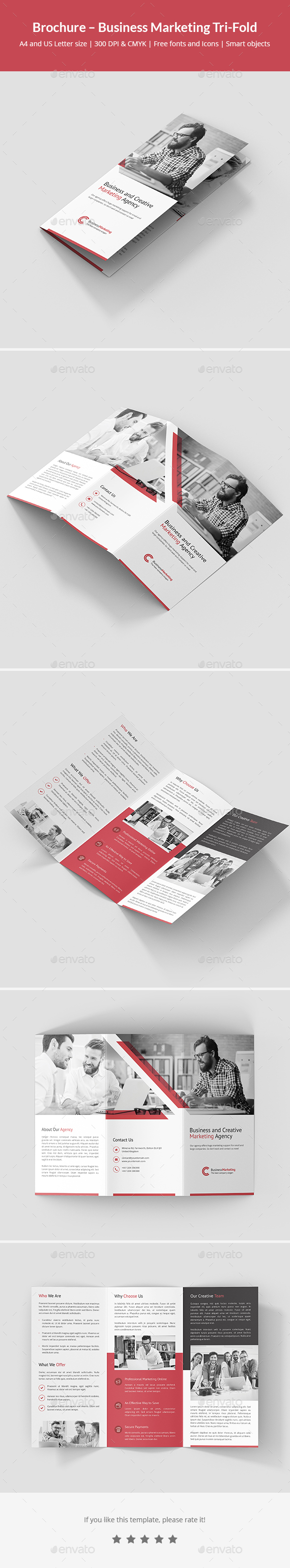 Brochure – Business Marketing Tri-Fold - Corporate Brochures