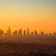 Los Angeles skyline viewed from Griffith observatory at sunrise - PhotoDune Item for Sale
