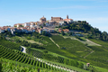 La Morra town on hills in Italy in a sunny day - PhotoDune Item for Sale