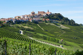 La Morra town in Italy surrounded by vineyards in a sunny day - PhotoDune Item for Sale