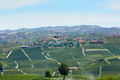 Serralunga d'Alba town with castle and vineyards in Italy - PhotoDune Item for Sale