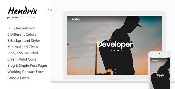 Hendrix - Personal Portfolio HTML Template