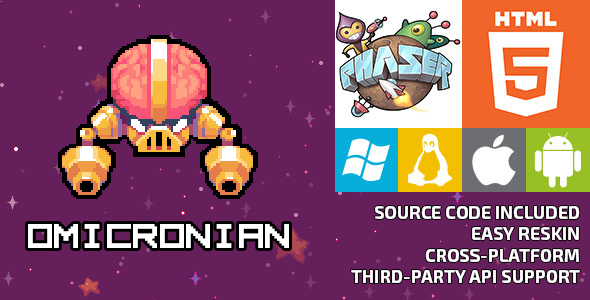 Omicronian - HTML5 Game - Phaser - CodeCanyon Item for Sale