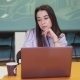 Serious Woman Working on Laptop in Office - VideoHive Item for Sale