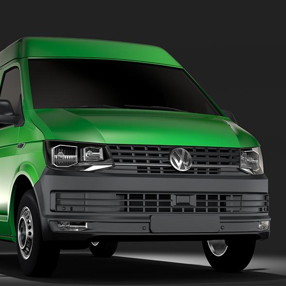 Volkswagen Transporter Van L1H2 T6 2017 - 3DOcean Item for Sale