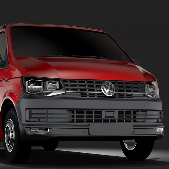 Volkswagen Transporter Van L2H1 T6 2017 - 3DOcean Item for Sale