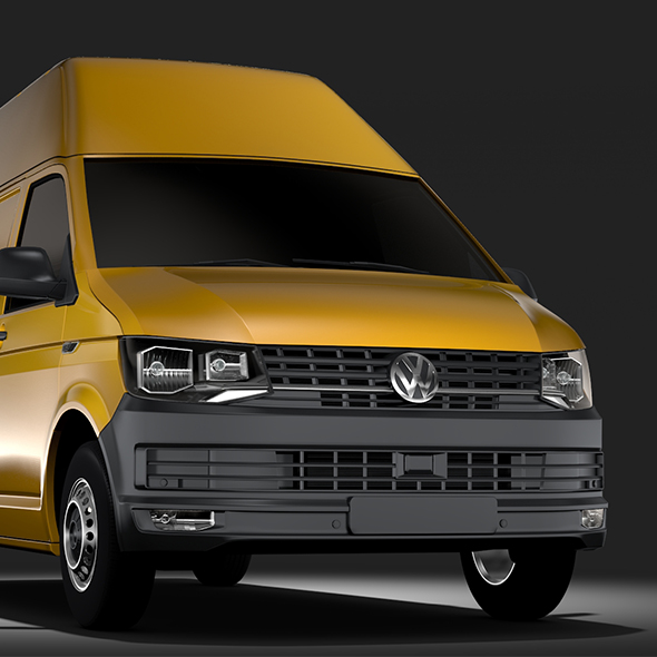 Volkswagen Transporter Van L2H3 T6 2017 - 3DOcean Item for Sale