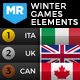 2018 Winter Games Elements - Medal Tracker & Event Results - PyeongChang - VideoHive Item for Sale