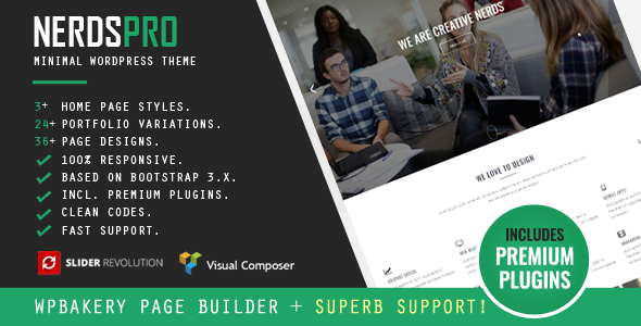 Nerdspro Minimal WordPress Theme - Business Corporate