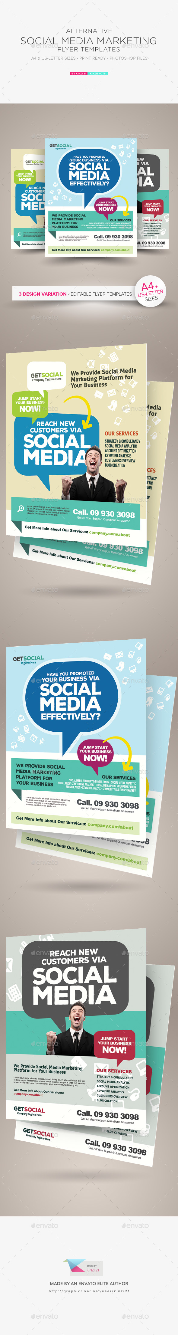 Social Media Marketing Flyer Templates - Corporate Flyers