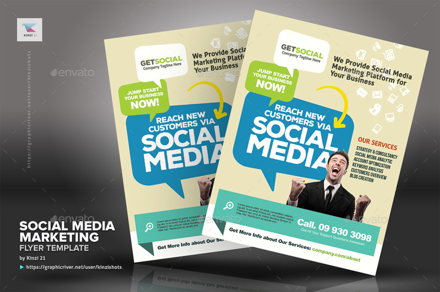 new screenshots01_graphic river social media marketing flyer templatesjpg new screenshots02_graphic river social media marketing flyer templatesjpg - Marketing Brochure Template