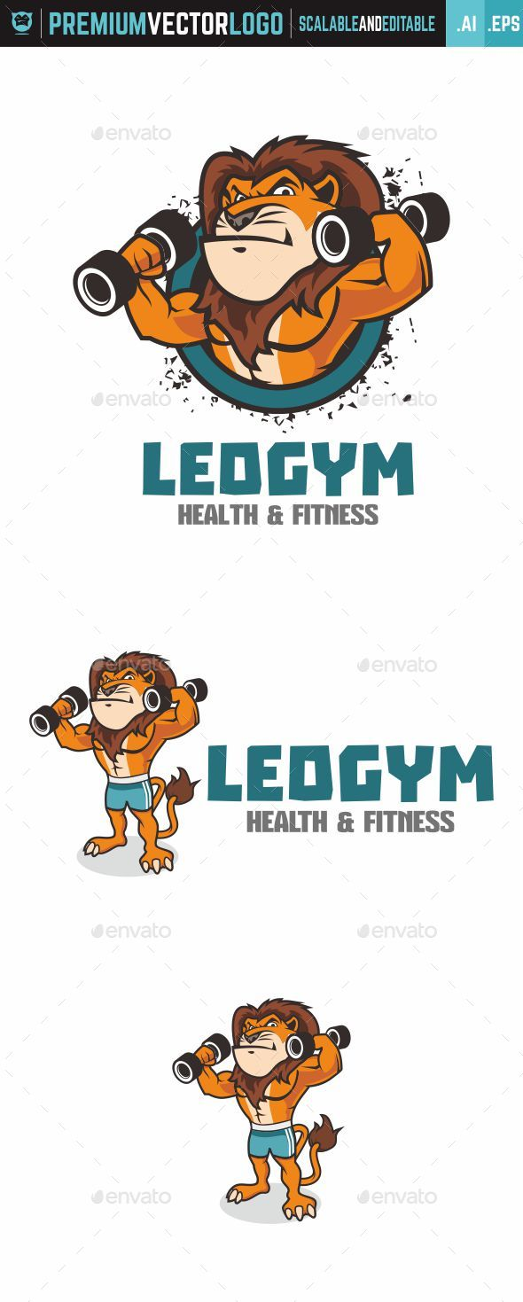Leogym Logo - Animals Logo Templates