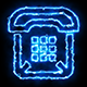 Telephone Blue Electric Fire Icon 06 - VideoHive Item for Sale