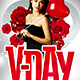 Vday Flyer Template - GraphicRiver Item for Sale