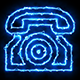 Telephone Blue Electric Fire Icon 07 - VideoHive Item for Sale