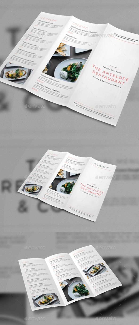 Trifold Brochure Menu - Brochures Print Templates