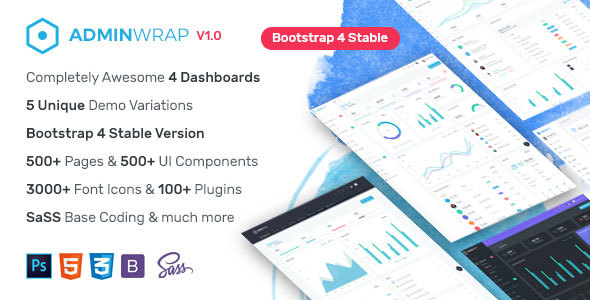 AdminWrap - Multipurpose Bootstrap 4 Dashboard Template