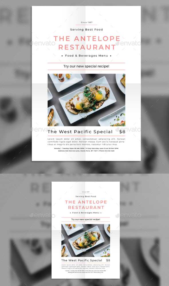 Restaurant Promotion Flyer - Flyers Print Templates