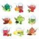 Glass and Ceramic Teapot Set Natural Herbal Tea