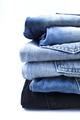 Close up of jeans on a white background - PhotoDune Item for Sale