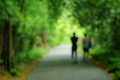 Travellers on trapical forest, Blurred park - PhotoDune Item for Sale