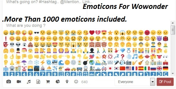 Emoticons For Wowonder - CodeCanyon Item for Sale