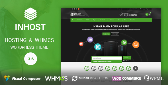 Hosting and WHMCS WordPress Theme | InHost - Hosting Technology