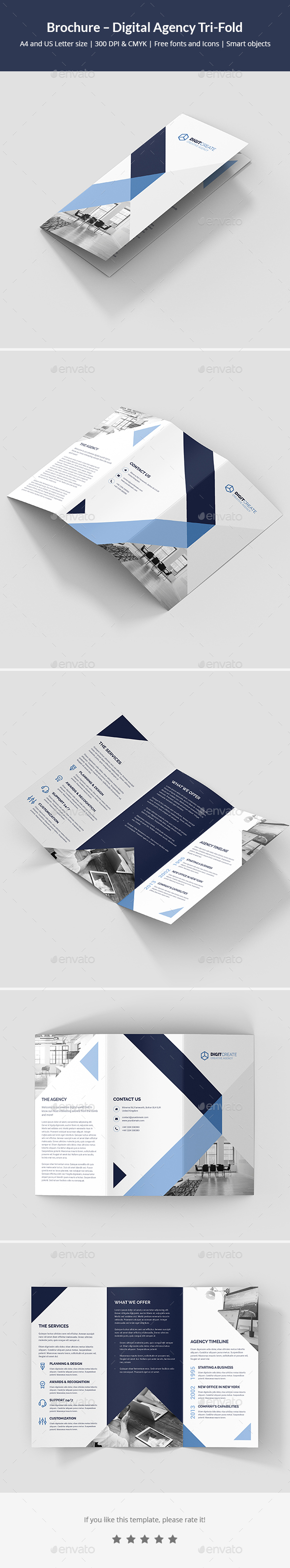 Brochure – Digital Agency Tri-Fold - Corporate Brochures