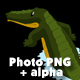 Crocodile Attacks Back View Alpha - VideoHive Item for Sale