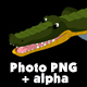 Crocodile Attacks Front View Alpha - VideoHive Item for Sale