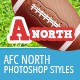 NFL Football Styles - AFC North - GraphicRiver Item for Sale