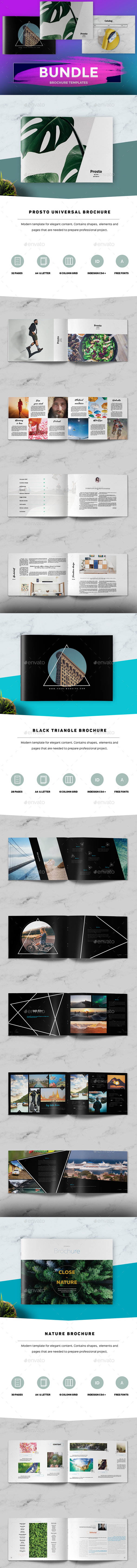 Modern Simple Brochure Bundle - Portfolio Brochures