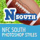 NFL Football Styles - NFC South - GraphicRiver Item for Sale