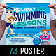 Swimming Lessons Poster Template - GraphicRiver Item for Sale