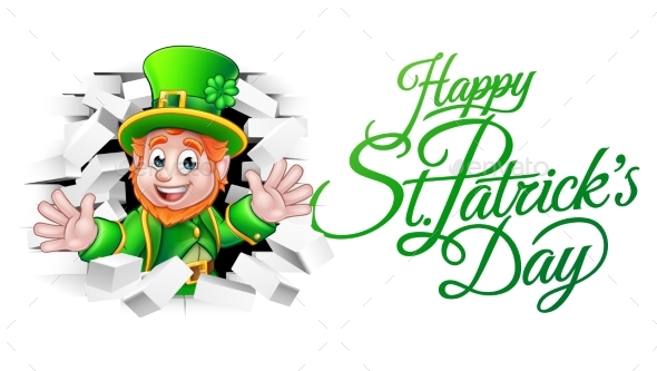 happy st patricks day cartoon leprechaun by krisdog graphicriver rh graphicriver net free clipart happy st patrick's day happy st patrick's day 2017 clipart