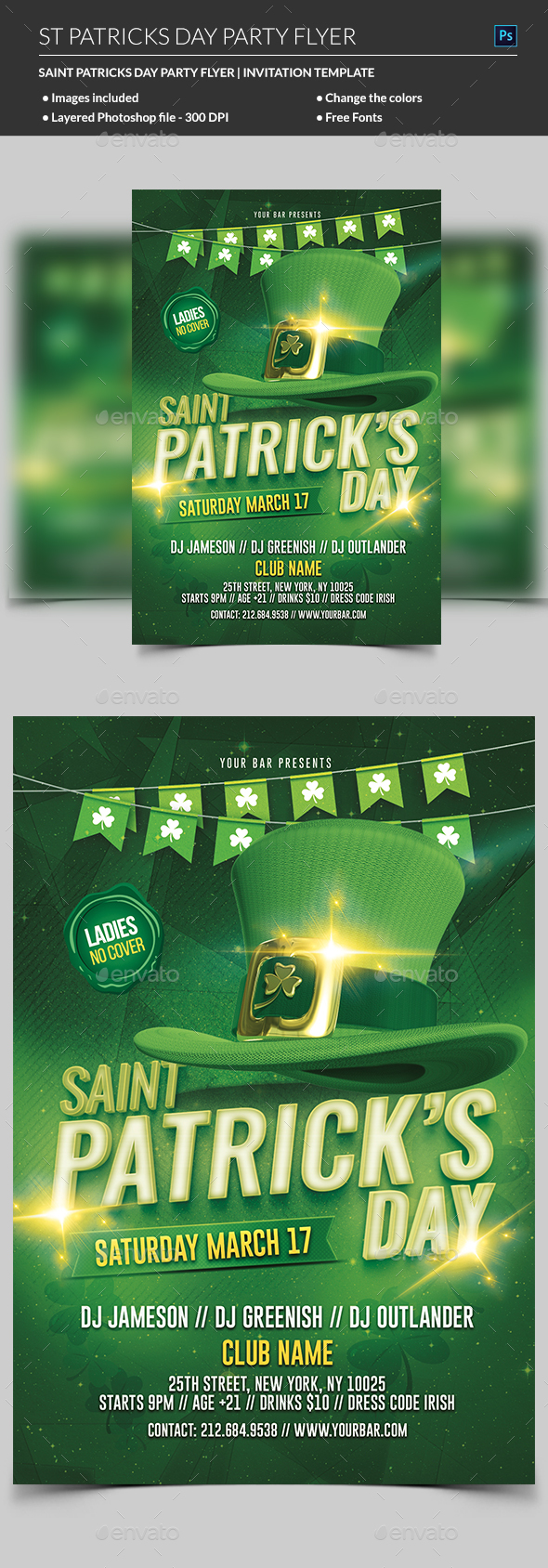St Patricks Day Flyer - Events Flyers