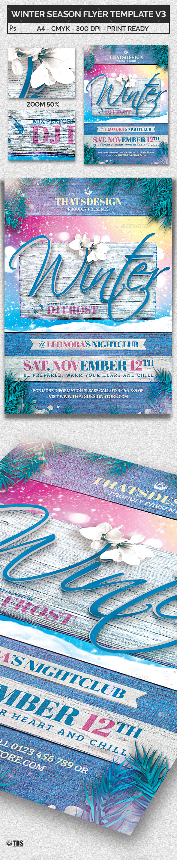 Winter Season Flyer Template V3 - Clubs & Parties Events