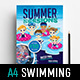 Kid's Swimming Poster Template - GraphicRiver Item for Sale