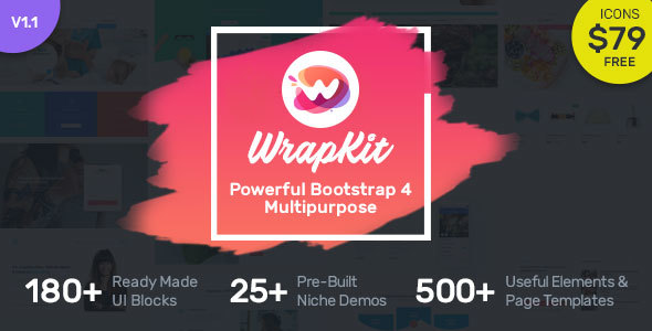 WrapKit - Bootstrap 4 Multipurpose Template