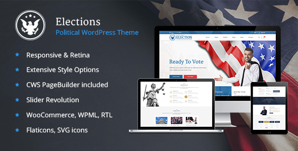 Image of Elections - Political WordPress theme