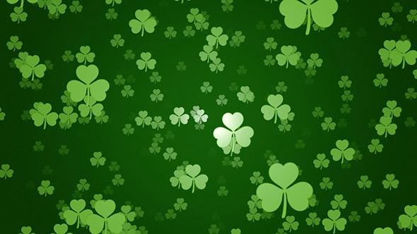 Clover Shamrock Symbols St Patricks Day Background